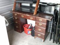 Office desk $30. Cabinet w/ 2 doors & 1 drawer $25.New,