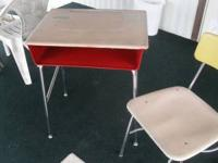 i have a student desk(two pieces) and chair, dry wall