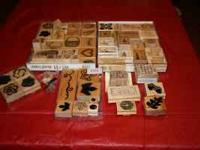 Misc. wood stamps Lot 10.00 if interested call  or