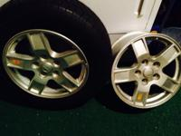 Jeep grand Cherokee Silver alloyed wheels, 177.5-$100