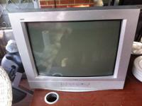 RCA TV with remote $30 Antique lamp $25 Plastic outdoor