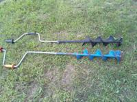 ice fishing augers $10.00 each blades need to be