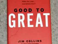- Good To Great by Jim Collins, hardback in new