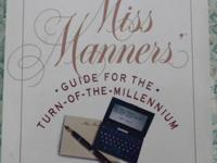 Large soft cover book. Non-smoking home. Miss Manners,
