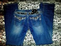 $60. MISS ME DESIGNER JEWELED JEANS Size 30 (Fits Size