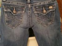 Miss Me Jean's size 26 good condition slight fraying on