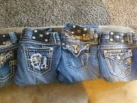 miss me jeans in order left to right size: 30 flare, 29