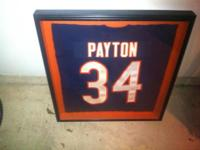 Framed and matted authentic 1985 Chicago Bears Walter
