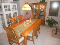 Type:Dining RoomType:SetsMission style oak dining table