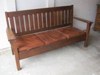 Objective Era Oak-slat back arm and settle chair set.