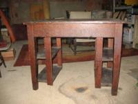 Antique Mission library desk.Oak desk needs top