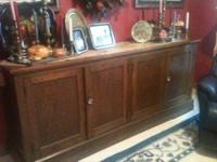 Great antique/vintage solid oak cabinet probably from