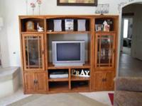 Beautiful Mission Style Entertainment Center for sale.