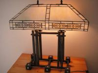 Mission Style Lamp for table, desk, sideboard, or