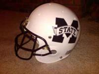 Full Size MS State football helmet. Schutt Pro Air II.