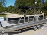 BISCAYNE BAY SERIES FAMILY PONTOON BOAT SHOWN IN TWO