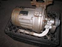 AVAILABLE IS A 1/2 HP MITSUBISHI CLUTCH MOTOR USED ON