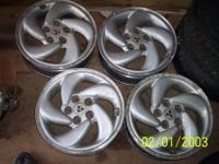 "Matching set of 4 (four) factory alloy 16"" rims with"