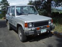 1988 4X4 Mitsubishi Montero 2DR Silver exterior, Grey