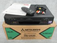 MITSUBISHI VCR VIDEO CASSETTE RECORDER Model: HS-U520