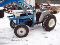 Early 1980's 30hp diesel compact tractor. Four wheel