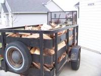 The trailer full is a 4ft x 8ft with 3ft sides full of