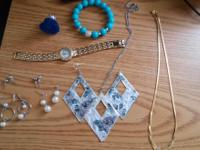 Earring and necklaces set Perry eles watch(some