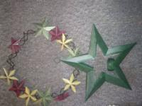 Metal stars- 7.50 each or both for 13.00 Peace, Joy,
