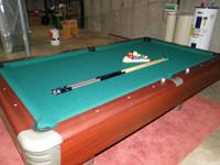 Mizerak 8ft slate leading Pool Table. Table is in