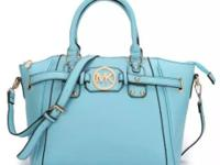Brand New MK Pebbled Large Leather Satchel Handbag in