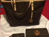 BROWN MKORS PURSE , WALLET , COIN PURSE IN EXCELLENT