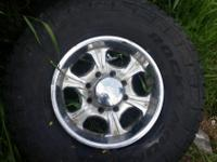 Mkw rims 8 lug with 315/70r17 Falken rocky Mountain