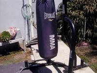 Everlast punching/kicking bag and stand. In excellent