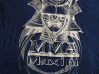 MMA Maxim Shirts in various sizes and colors (black,