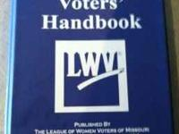 For Sale is my used Missouri Voters' Handbook published