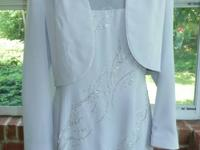 High end mom of the bride gown, size 12. Used when and