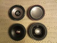 "Subwoofers for sale, 4 Rockford Fosgate,12"" Punch P2"