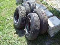 Moble home tires/wheels in very good condition. I have
