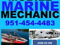 MOBILE MARINE MECHANIC! YES! WE COME TO YOUR BOAT OR RV