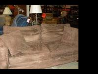 Like New Mocha Microfiber Sofa only $175 Wendy's Garage