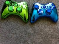 Metallic Shell and flat buttoned Xbox 360 Controllers!