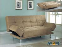 The mode adjustable converts from a couch to a bed,