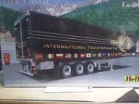 Heller 1/24 scale box trailer, list $40.00 (20 years