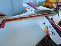 MODEL RC AIRPLANE SONIC WITH OS 40 FOUR STROKE AND