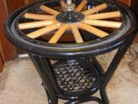 "THIS MODEL T 30"" WHEEL TABLE IS VERY UNIQUE THE WHEEL"