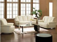 Modern Brand NEW 3 Pcs - Bonded Leather Sofa Set Model: