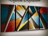 I specialize in original modern abstract oil painting,
