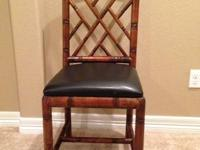 Beautiful Chair, bamboo with leather seat.