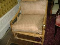 We are selling a fabulousmodern bamboo chair from the