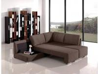 Modern Black Fabric Sectional Sofa SKU VGWCGAS780G